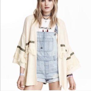 H&M x Coachella Fringe Cardigan